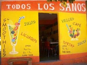 fachada todos los santos comida boliviana