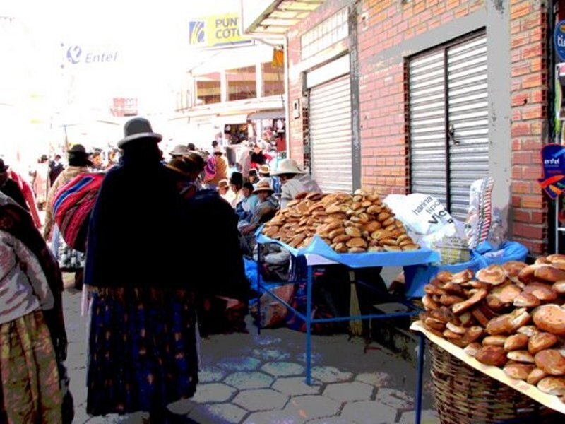 lago titicaca copacabana feira