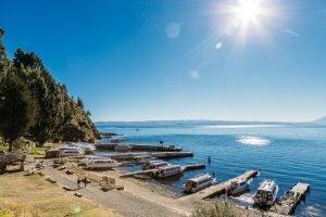 chegando isla do sol lago titicaca