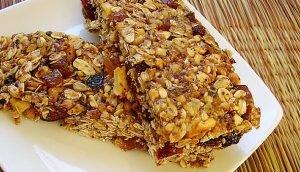 refeição saudável barra de cereal