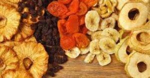 refeição saudável fruta desitratada