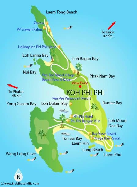 ko phi phi map