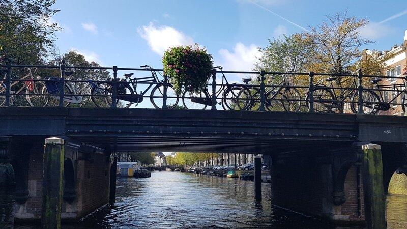 se locomovendo em Amsterdã