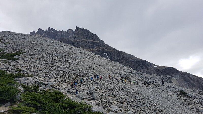 trajetos em Torres del Paine