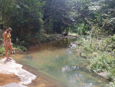 Sítio Arqueológico Toca da Onça – Cachoeira e Pintura Rupestre pertinho de Brasília