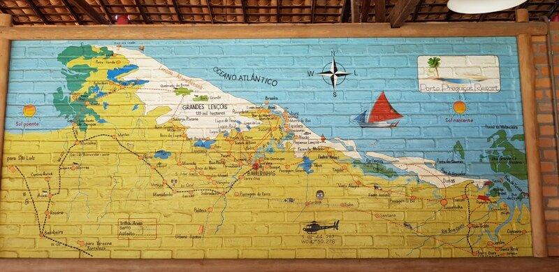 viagem para lençóis maranhenses mapa