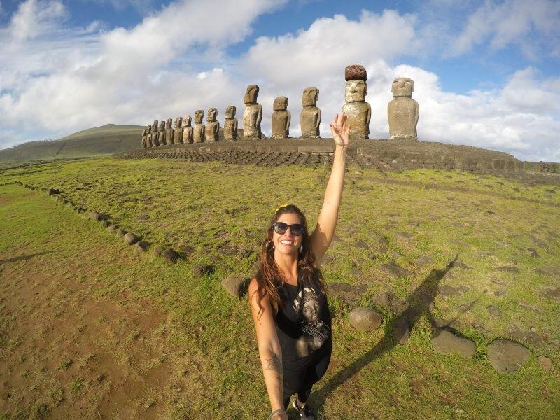 os 12 moais ilha de páscoa
