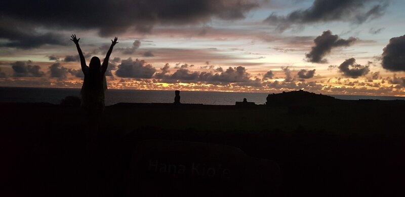 roteiro para ilha de pascoa por do sol