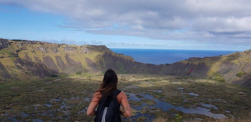 roteiro para ilha de pascoa trilha cratera vulcão