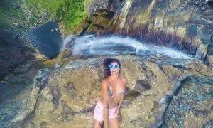 As trilhas da Cachoeira do Tabuleiro, a terceira maior do país