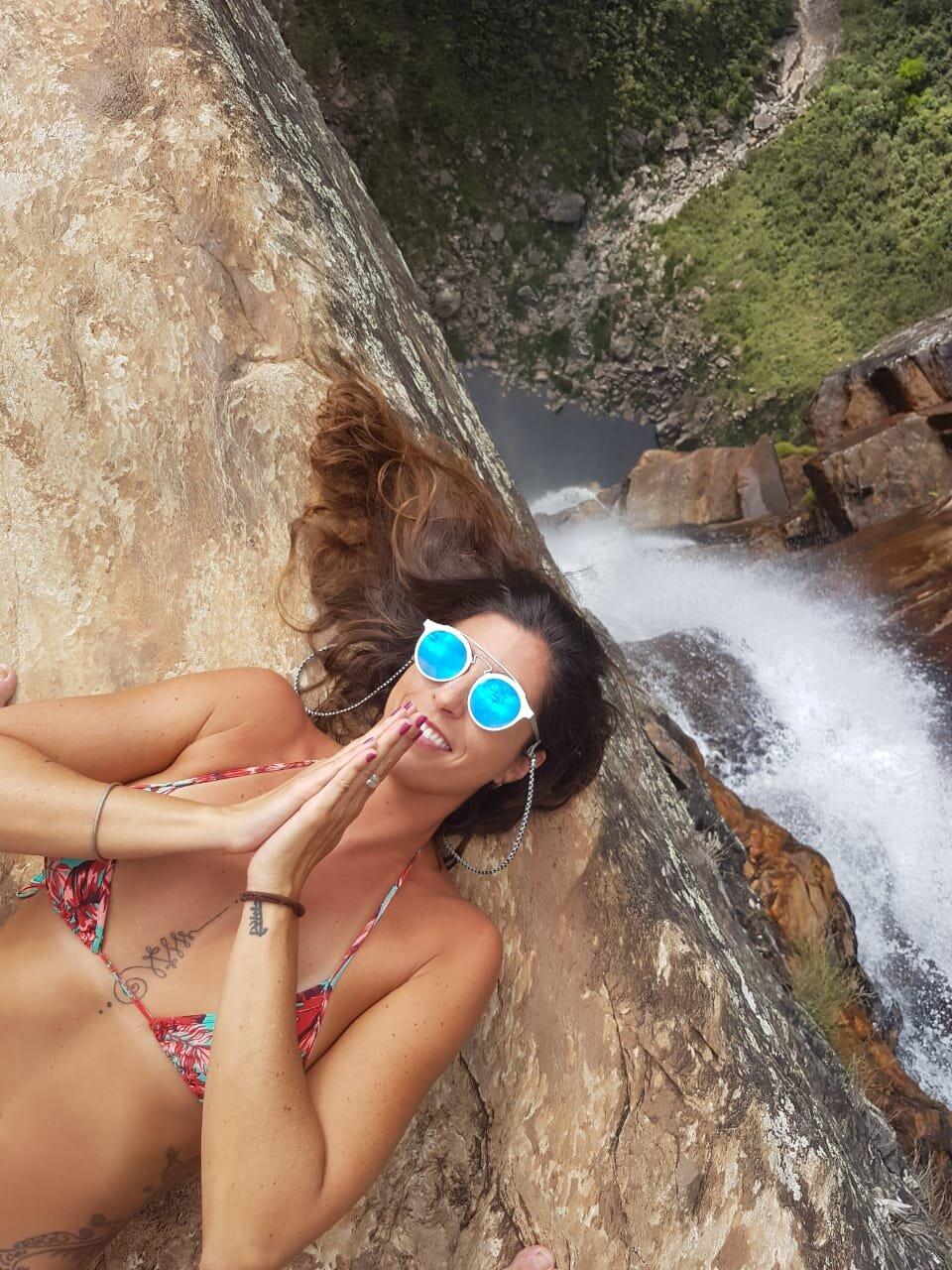 trilhas da cachoeira do tabuleiro vista