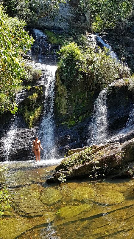 serras gerais, tocantins cachoeira brejo limpo