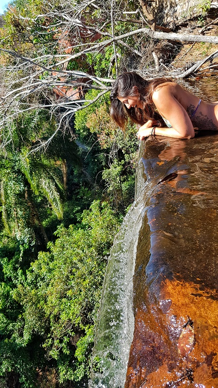 serras gerais, tocantins vale dos pássaros topo da cachoeira