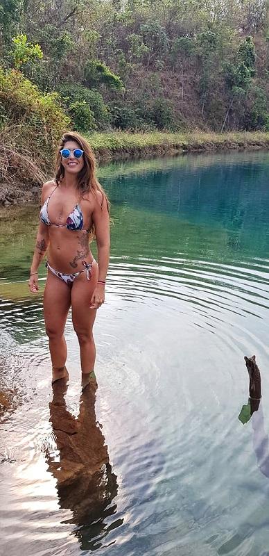 lago azul em mara rosa agua cristalina