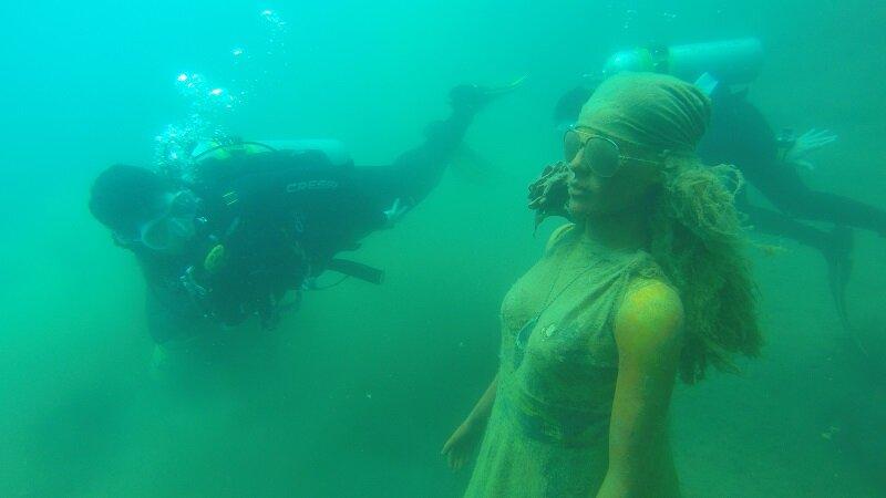 lago azul em mara rosa mergulho manequim