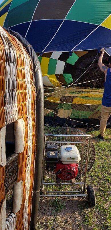 voo de balão na chapada dos veadeiros montagem