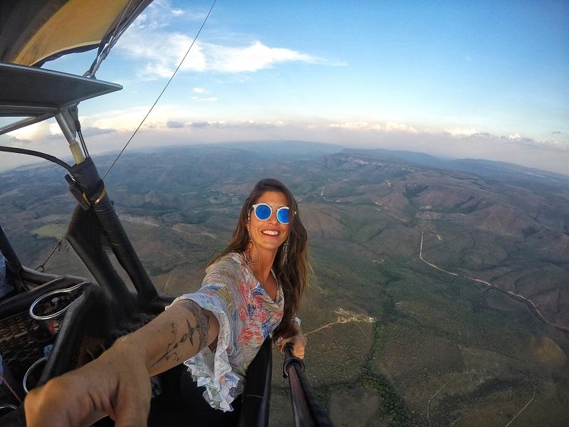 voo de balão na chapada dos veadeiros luisa Galiza