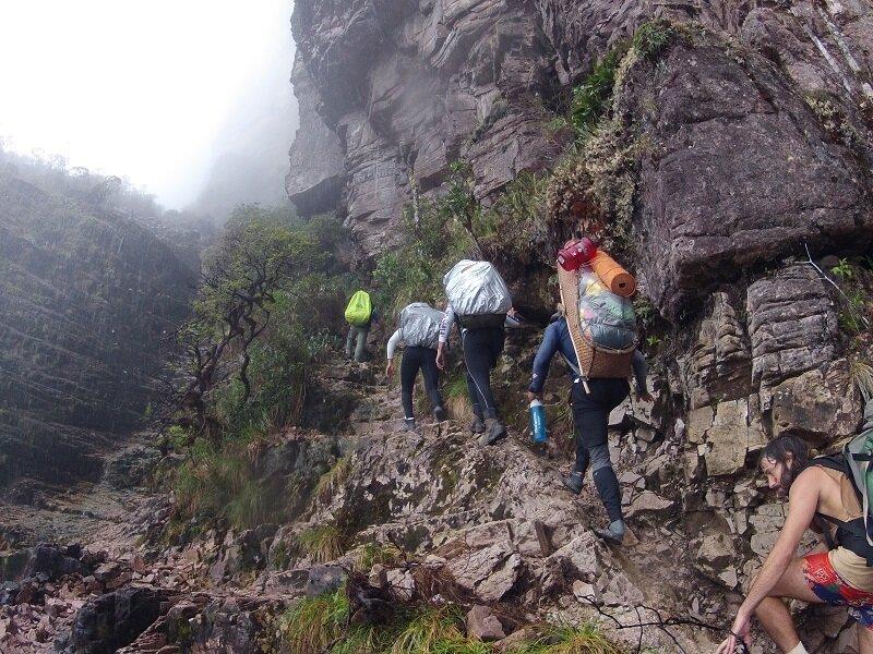trekking com escalada