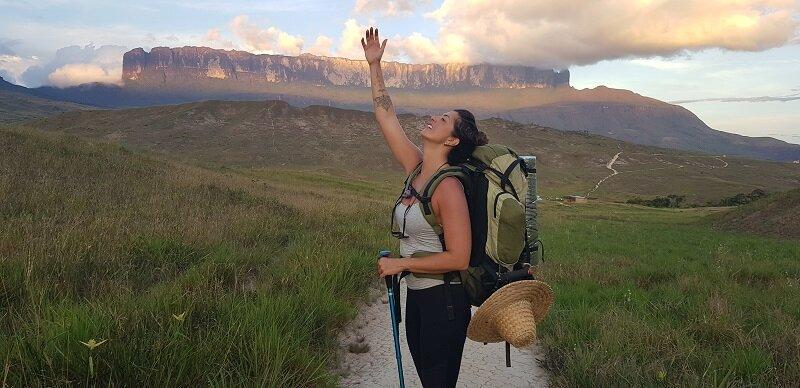 trekking na fronteira entre Brasil, Venezuela e Guiana