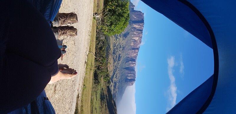 trekking camping e barraca no Monte Roraima