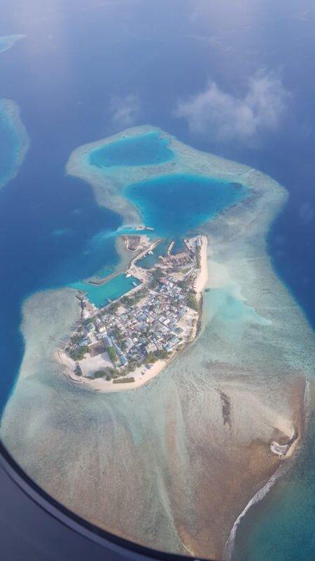 ilhas maldivas de cima avião
