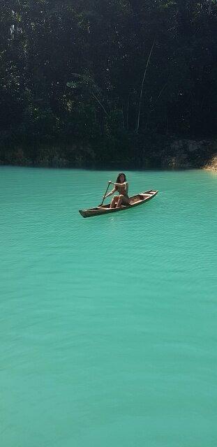 canoa lagoa azul