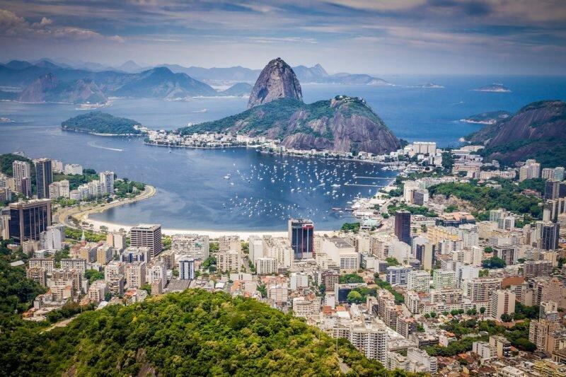 morro santa marta cachoeiras na cidade do Rio de Janeiro