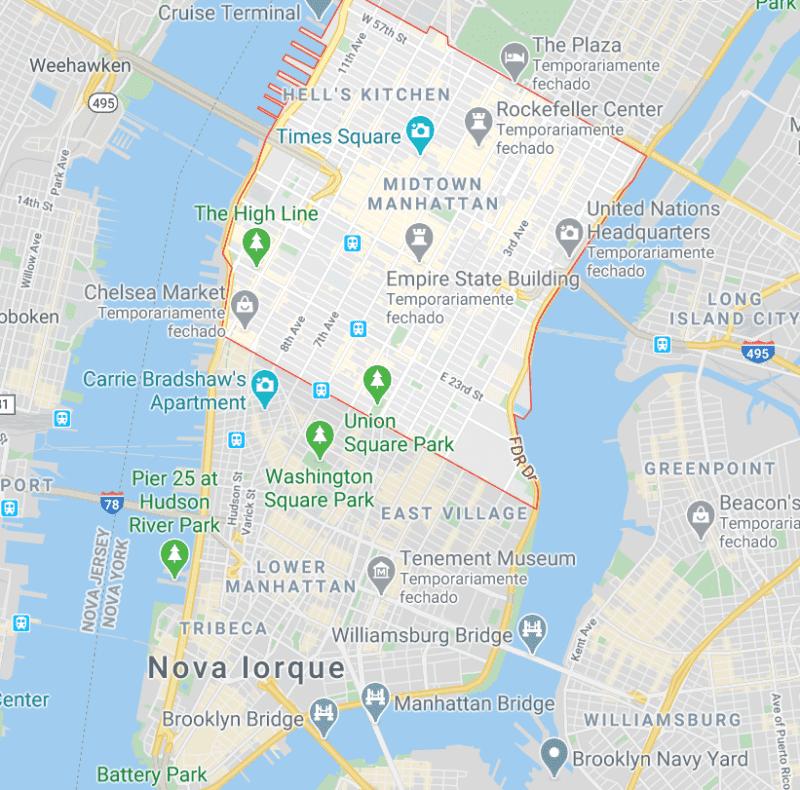 mapa midtown ny