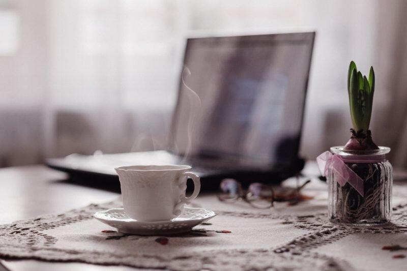 trabalho e chá pra dar energia