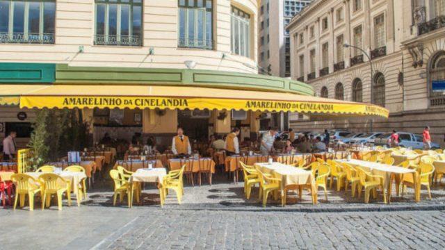 o que fazer no centro do Rio bar amarelinho da cinelândia