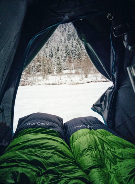 saco de dormir barraca neve camping